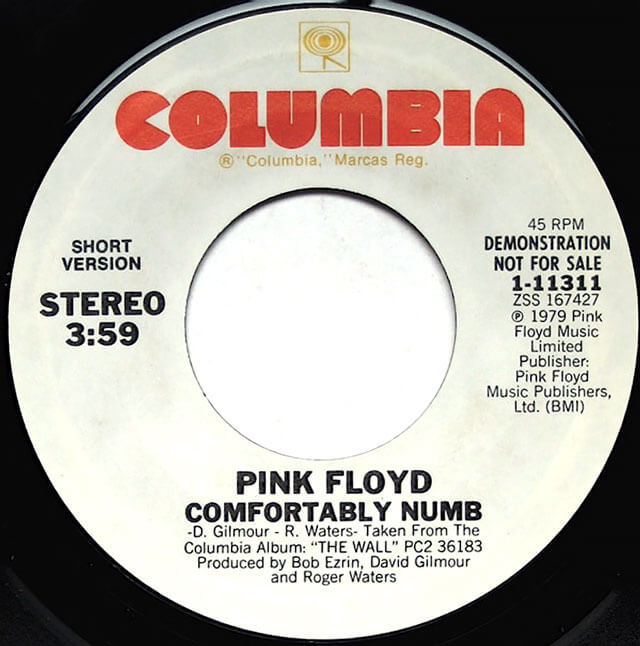 comfortably numb, the wall, single, pink floyd, live 8