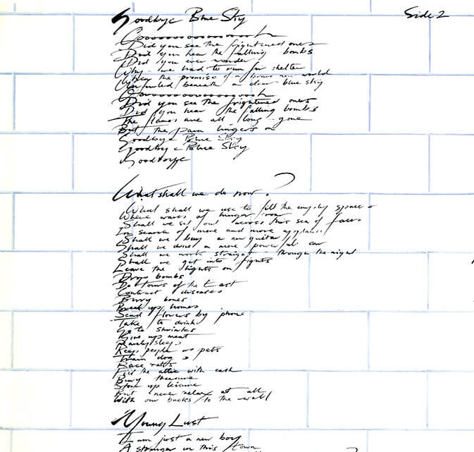 what shall we do now, empty spaces, the wall, pink floyd,
