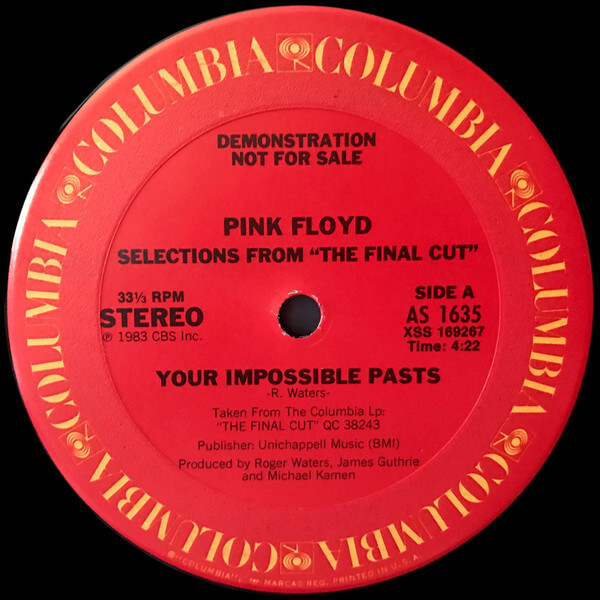 your possible pasts, your impossible pasts, pink floyd, the final cut