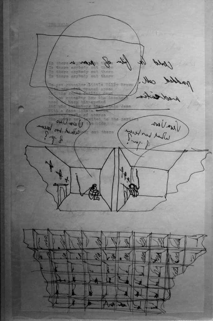 The Wall, Is There Anybody Out There, V & A Museum, original lyrics