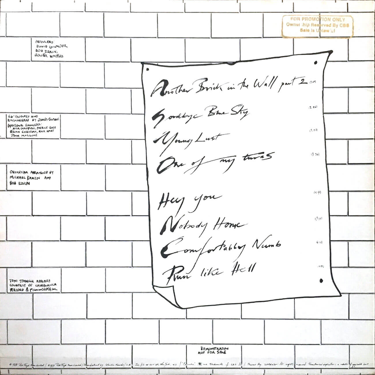 Pink Floyd Off The Wall Special Radio Construction
