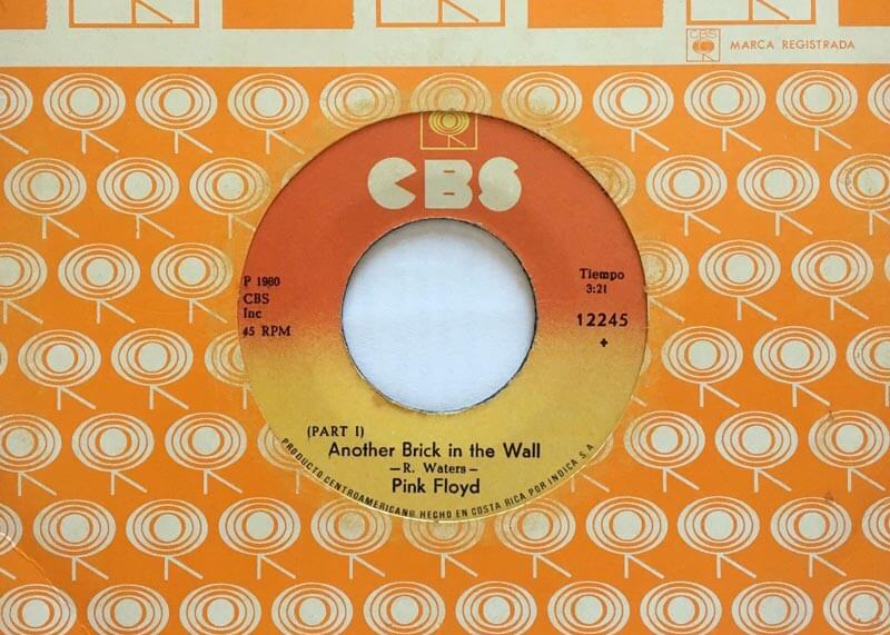 another brick in the wall, part 1, single, pink floyd, costa rica, CR