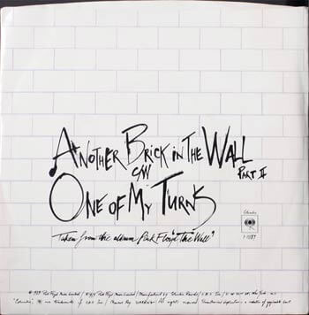 Another brick in the wall, we don't need no education, the wall, pink floyd