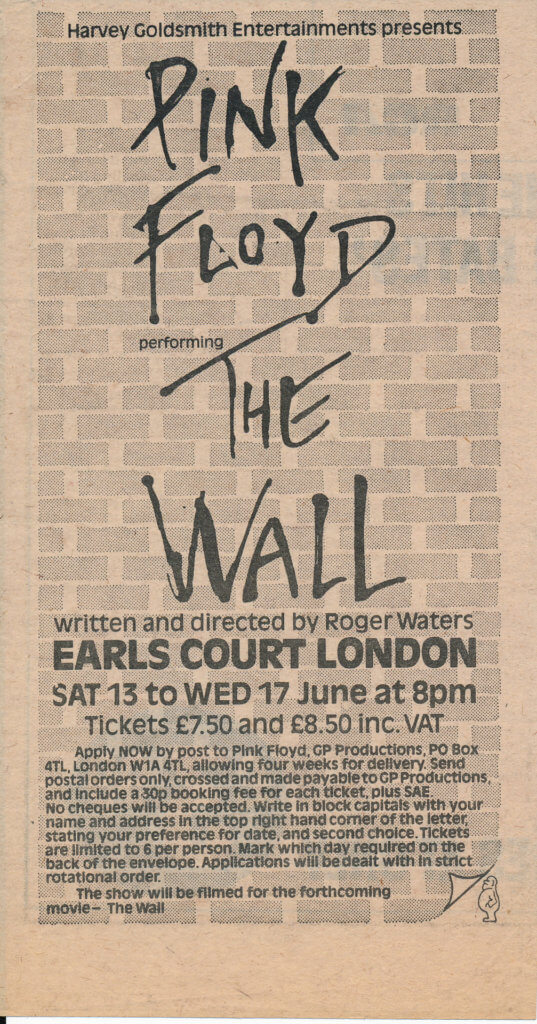 pink floyd the wall live earls court london